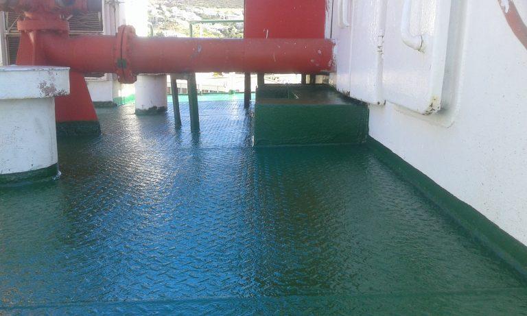 Blasting & Coating of Deck Area